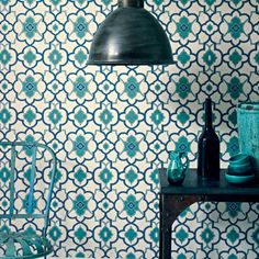 Alhambra Palace Wallpaper by Fired Earth. Find more ideas at Redonline.co.uk.