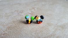 Pinocchio and Jiminy Cricket Mickey Mouse Inspired Earrings