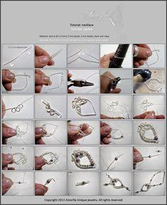 Amorfia Unique Jewelry: Wire wrapped necklace- free tutorial