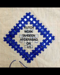 Kutch Work Designs, Types Of Hands, Mirror Work, Needle And Thread, Diamond Shapes, Hand Embroidery, Pillow Covers, Crochet Hats, Saree Blouse
