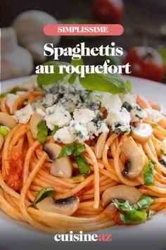 Les spaghettis au roquefort sont un plat de pâtes au fromage facile à cuisiner. #recette#cuisine#pates#fromage #roquefort #spaghettis