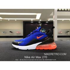 sale retailer 1efee 24ae1 Nike Authentic Air Max 270 Heel Half-palm Cushion Mesh Jogging Shoes  AH8050-410 Size90819380T New Year Deals
