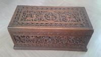 antique walnut? Indian hand carved jewellery box