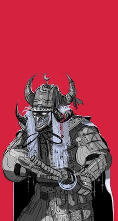 The chulo (Samu in process. Anime Fantasy, Dark Fantasy Art, Oni Samurai, Arte Ninja, Kratos God Of War, Future Wallpaper, Samurai Artwork, Post Apocalyptic Fashion, Japanese Warrior