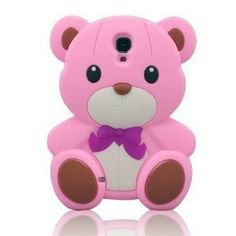 3D Cute Pink Teddy Bear Soft Silicone Case Cover for Samsung Galaxy S4 i9500