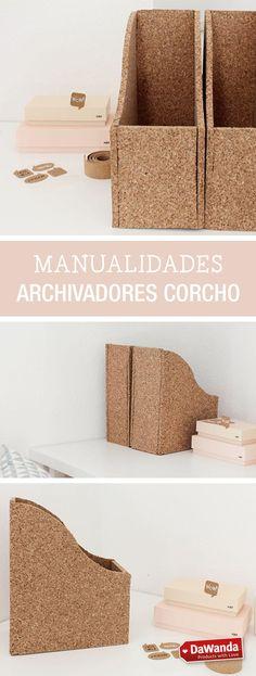 Tutoriales DIY - CÓMO HACER UN ARCHIVADOR DE CORCHO en DaWanda.es