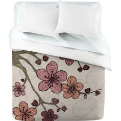 DENY Designs Valentina Ramos Blossom Duvet Cover, King by DENY Designs. $229.00. Closure: Metal snaps seen in snap closure view. Metal snaps for closure. Color - Top: Full color, Color - Bottom: White. Fabric: Ultra soft, 100-percent polyester microfiber. Manufacturing: 6 color dye process, custom printed for every order. Turn your basic, boring down comforter into the super stylish focal point of your bedroom with this DENY Designs duvet cover. Custom printed when you order i...