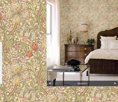 Plain english aesthetic movement and william morris for Catty corner bedroom ideas