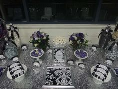 Purple, Black, White and Silver Birthday Party Ideas | Photo 3 of 16