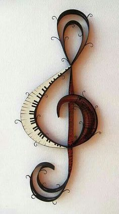 This treble clef shows my musical side. I play the piano, so the piano part of the treble clef is perfect! Quilled Creations, Music Decor, Paper Quilling, Music Quotes, Film Quotes, Music Sayings, Music Lovers, Paper Art, Musicals