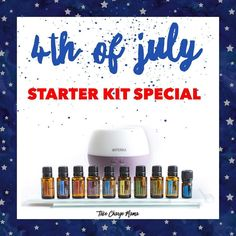 Happy Fourth of July! In honor of this amazing holiday I have bundled my favorite oils and tools into PERFECT essential oil starter kit! This is open TODAY and TOMORROW only and for anyone brand new to dōTERRA and  gets started with me as their essential oil educator! ..If you have been sitting on the fence and are now ready to dive into essential oils now is your time! Send me a DM or comment below and I will get you all the juicy details about this special!
