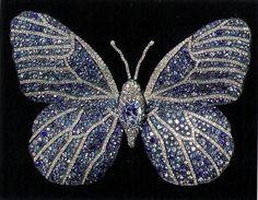 Diamond Sapphire Butterfly