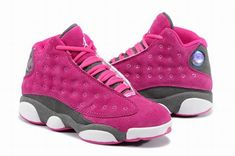 a6b80e0874b6e4 Nike Womens Air Jordan 13 Suede Pink Grey White Sneakers Black Friday    Cyber Monday Sale 2018