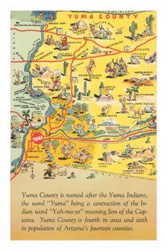 Map of Yuma County, Arizona-----Brings back memories of Great Cowboy Movies