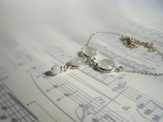 SOLD Sterling Silver and Rainbow Moonstone necklace
