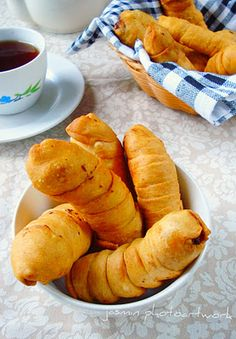 Pisang molen, Banana's in a blanket or Banana wrapped in pastry dough - Indonesian cuisine.