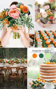 trending shades of orange tangerine and lime wedding color ideas for fall 2015