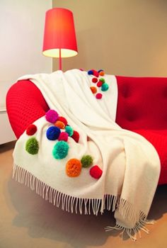 Make a Pom Pom throw