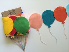 This fun garland is a great addition to decorate any event or spot with a balloon or carnival theme.