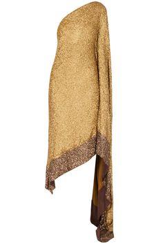 Gold shimmer sari kaftan available only at Pernia's Pop-Up Shop