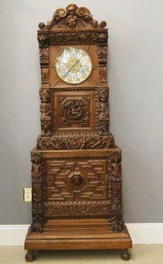 Oak tall clock : Lot 94
