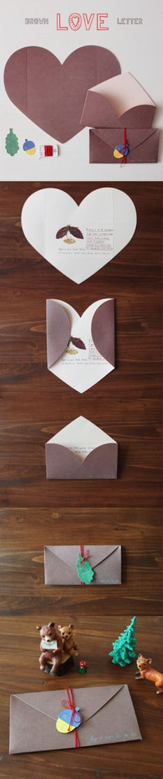 Adorable nature-inspired goodness! This Brown Love Letter is a stationery set perfect for writing personalized notes to loved ones. The 2 heart-shaped cards that fold into envelopes, 2 cute gift tags, and string make this an easy must have for stationery lovers everywhere!