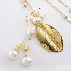 Collar Cadena mujer perlas cultivadas perlas de agua cadena oro goldfilled lindas joyas