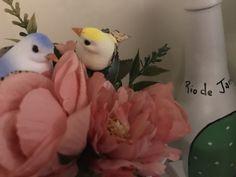 Flores e pássaros