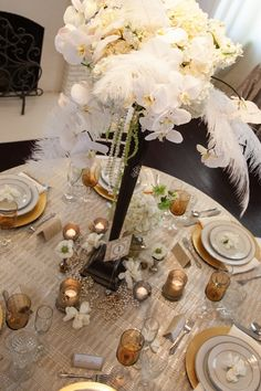 Great Gatsby Party Centerpieces | Great Gatsby Inspiration