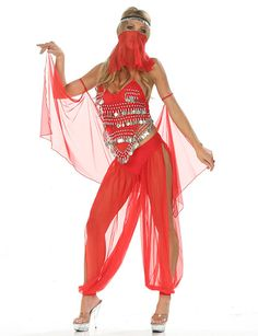 My next belly dancing outfit? I really want to try pants next time. I love this one, just minus the face cover.