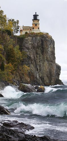 Split Rock Lighthouse - North Shore Minnesota--take me on a trip to get away up north http://www.flickr.com/photos/etcphoto/3984350805/