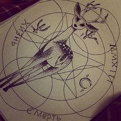 deer tattoo | Tumblr