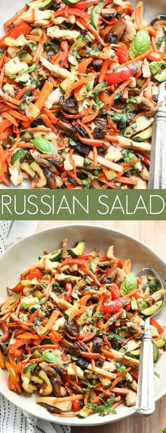 This Russian Chicken Vegetable Salad Recipe is such a unique recipe. Sautéed vegetables with chicken, a wonderful combination of flavors. Chicken Drummies Recipes, Chicken Recipes, Keto Chicken, Salad Chicken, Chicken Ideas, Steak Recipes, Cold Vegetable Salads, Vegetable Salad Recipes, Per Diem