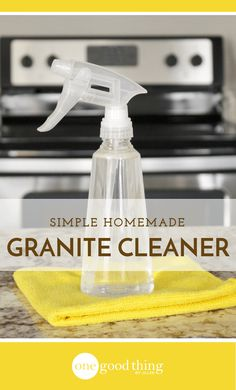 Granite countertops require special care and maintenance. This gentle homemade granite cleaner that will leave them sparkling! cup of rubbing alcohol 3 drops of Dawn dish soap Water in 16 oz spray bottle Use MICROFIBER CLOTH! Granite Countertop Cleaner, Homemade Granite Cleaner, Black Granite Countertops, Kitchen Countertops, Best Granite Cleaner, Quartz Cleaner, Granite Sealer, Brown Granite, Kitchen Cabinets