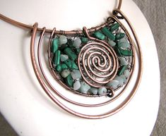 The Beading Gem's Journal: Copper Wire Work Jewelry By Wire Moon