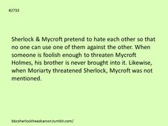 I like this so much better than the theory that Mycroft and Sherlock actually do hate/strongly dislike each other