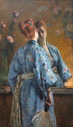 754cccc648 The Japanese Parisian (La Parisienne japonaise)  1872 by Alfred Stevens  (Museum of Modern Art and Contemporary Art