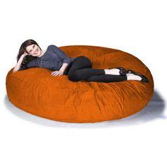 Jaxx Cocoon 6 ft Foam Bean Bag Chair, Microsuede