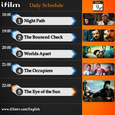 Enjoy today's  #iFilm  schedule.