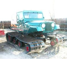 Sno-Ball Jeep CJ6 Snowcat from 1956 - created for the US Forest Service and FAA.