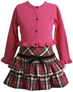 Bonnie Jean Girls 2-6X Skirt Dress with Ruffle Hem On Sweater  Fuchsia  6From #Bonnie Jean List Price: $58.00Price: $40.60 Availability: Usually ships in 24 hoursShips From #and sold by iPovePou Boutique