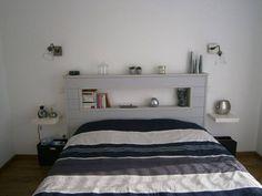 idée tête de lit avec niche centrale (mais pas blanc !)