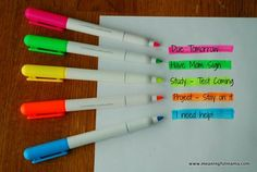 Tips and Tricks for Teaching Study Skills to Kids Use colour! It's proven to be a great tool in remembering important information. // study tips The post Tips and Tricks for Teaching Study Skills to Kids appeared first on School Ideas. Back To School Organization, Study Organization, Planner Organization, Teaching Study Skills, Teaching Tips, Planning School, School Study Tips, Study College, College Teaching