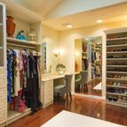 Amazing closet that feels like a high end boutique - Traditional - Closet - newark - by Bella Systems