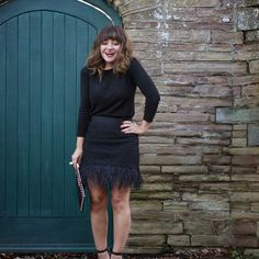 Mission;Style: 12 Outfits Of Christmas, Part 1…Topshop Feather Skirt