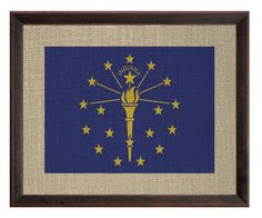 Indiana Framed Graphic Art