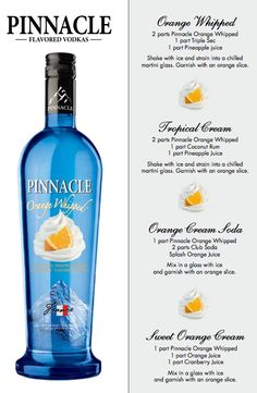 """Pinnacle Orange Whipped...yummy, might have to """"whip"""" up a drink this weekend..."""