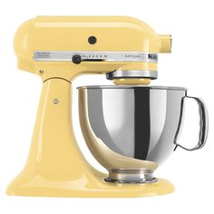 Yellow stand mixer with a 10-speed design.   Product: Stand mixer  Color: Majestic yellowFeatures: