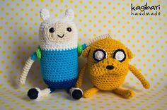 Jake y Finn, Hora de aventura Amigurumi Adventure Time