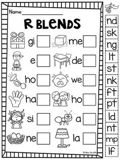 L-Blends. Look at the picture and decide which L-blend